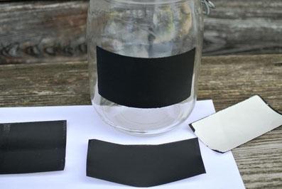 Etiketten aus Tafelfarbe selber machen