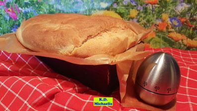 Rezept-Vorschau für Backrezept aus Dinkel-Dreams 2 von K.D. Michaelis für selbstgebackenes Dinkel-Weißbrot