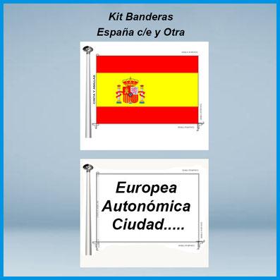 Comprar kit 2 banderas institucionales