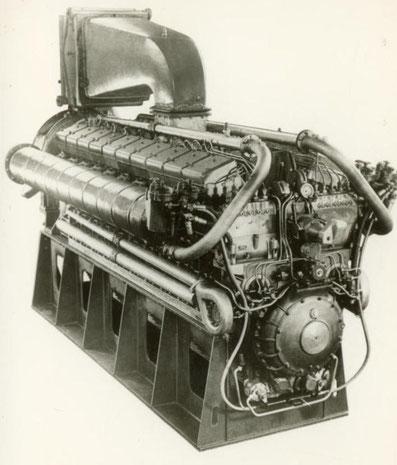 Dieselmotor 20 KVD 25 - Nachbau des MB 511 - Foto: Archiv WTZ Roßlau gGmbH