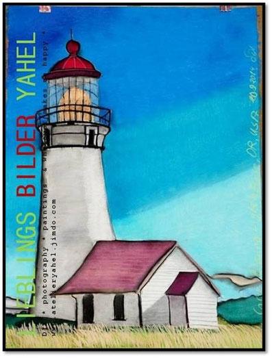 Cape Blanco Lighthouse, OR, USA, 100x70cm, Pastellkreide auf Papier, Mindestgebot 135€