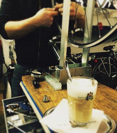 Laufräder Centrimaster Fahrradcafé Hannover Latte Macchiato