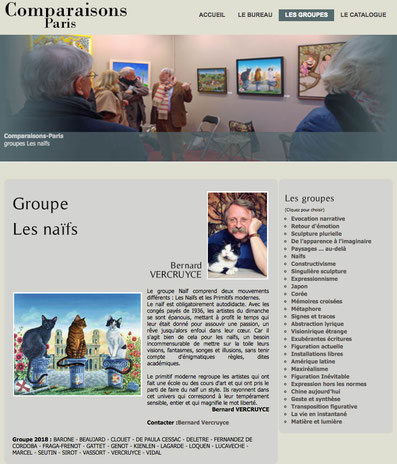 Exposition à Paris au Grand Palais / Art Capital  avec le groupe Naïf de Bernard Vercruyce. 2018
