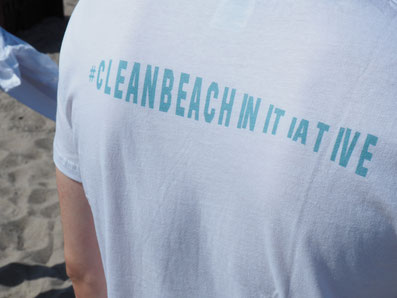 Clean beach initiative t-shirt