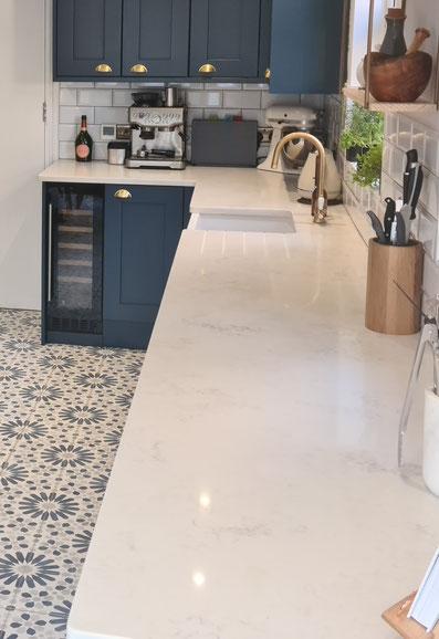 Carrara Quartz worktops
