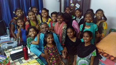 Les filles de notre centre, photo prise en février 2019