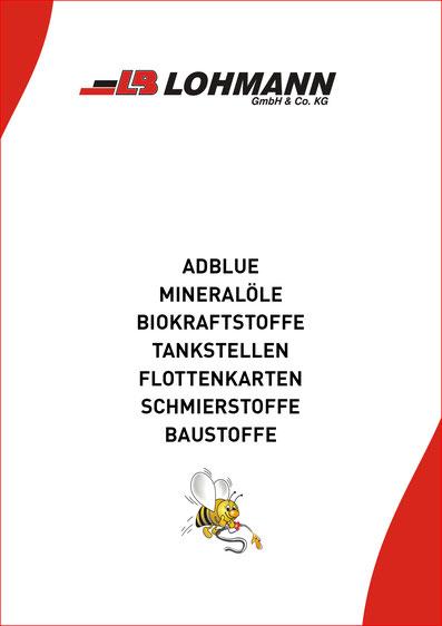 Broschüre Energie Mineralöle Adblue Tankstellen LB Lohmann