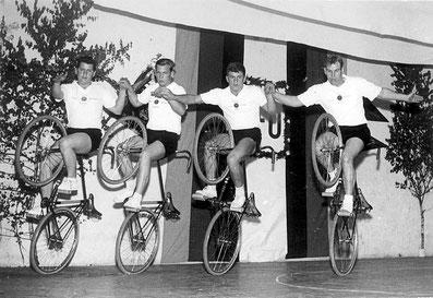1966: Steuerrohrsteiger Erhardt Albert - Schiele Josef - Erhardt Alfred - Schiele Friedrich