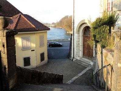 das ehemalige Stadttor (heute Zugang zum Pfarrhaus)