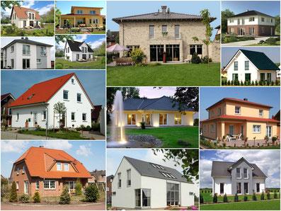 Massivhäuser und Holzrahmenhäuser