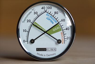 Raumklima Hygrometer Planungsbüro Krajewski Energieberatung