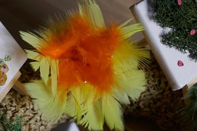 DIY: fleurs en plumes