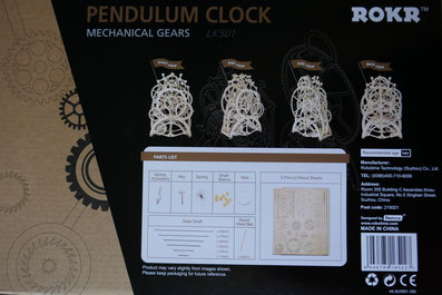 Horloge en bois test: Univers Emylila