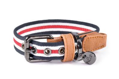 Hundehalsband Milk and Pepper Heritage gestreift vintage Halsband