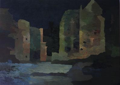 """Martin Guido Becker, """"Architektonische Fragmente"""", Öl/Lwd, 50/70 cm"""