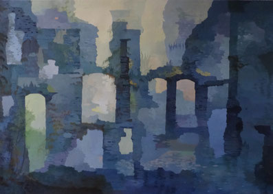 "Martin Guido Becker, ""Troglodytenstadt"", 2014, 70/100 cm"