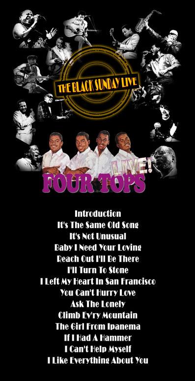 the Funky Soul story - émission The Black Sunday Live avec les Four Tops