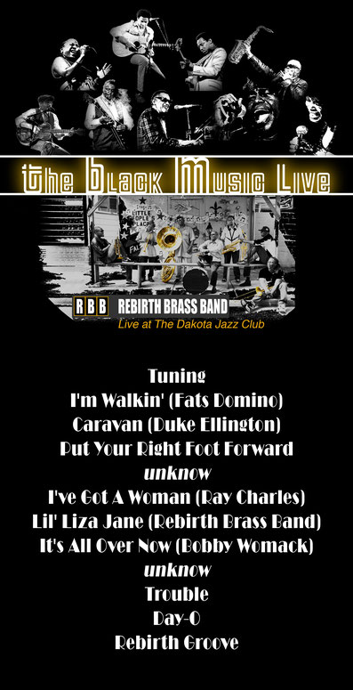 the Funky Soul story - Playlist de l'émission The Black Music Live #41 avec Rebirth Brass Band