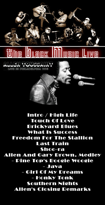 The Black Music Live n°38 avec Allen Toussaint