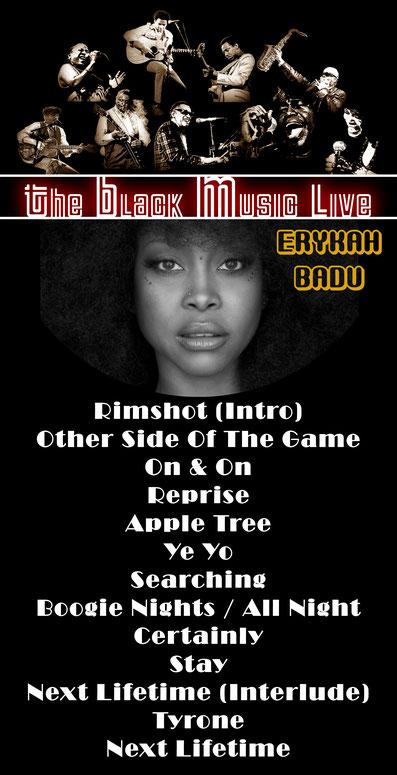 The Black Music Live #35 - Erykah Badu - Tracklist