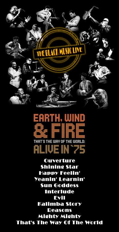 the Funky Soul sotry - Playlist de l'émission The Black Music Live #23 avec Earth, Wind & Fire