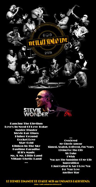 The Black Sunday Live #13 - stevie Wonder