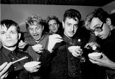"""1982 Hubert Nedwed, Bill Pugh, Heinz D. Heisl, Heribert """"Corny"""" Kornfeil © Didi Zill"""