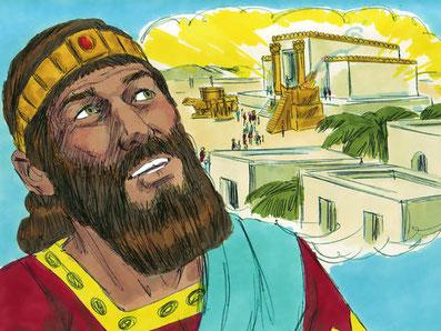 Le Temple a été construit pour glorifier Jéhovah Dieu. Le Temple de Jérusalem était d'une grande magnificence, construit avec les matériaux les plus nobles, les plus précieux, à l'image de la gloire du Souverain Seigneur Jéhovah Dieu. Jéhovah est présent