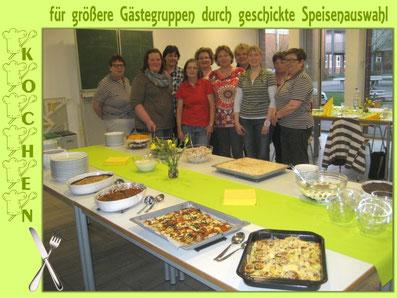 Kochen für größere Gästegruppen
