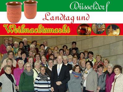 Düsseldorf: Landtag und Weihnachtsmarkt