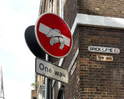 Shoreditch Street Art Tours, Street Signs, Clet Abraham