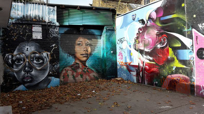 Shoreditch Street Art Tours, Portrait by Dreph of Myfanwy Evans