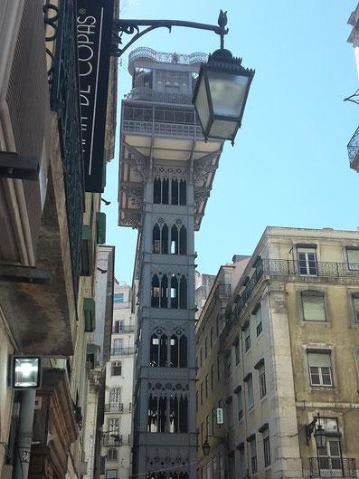 Elevator de Santa Justa Lissabon