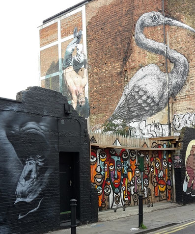 Insidertipps Shoreditch London - Street Art ROAs Big Bird