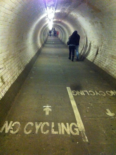 Tunnel under the Thames in London