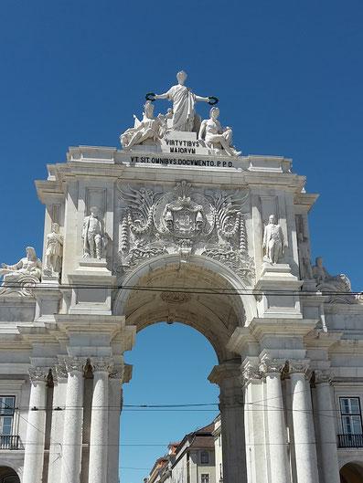 Triumphbogen an der Rue Augusta, Lissabon
