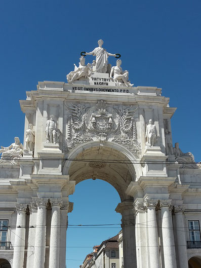 Triumphal Arch at Rue Augusta, Lisbon