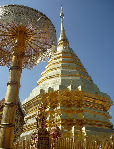 Wat Phra That Doi Suthep, Golden Chedi, Thailand