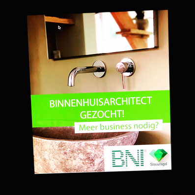 Facebook, advertentie, BNI Smaragd, mooie foto van een kraan, binnenhuisarchitect gevraagd, amersfoort