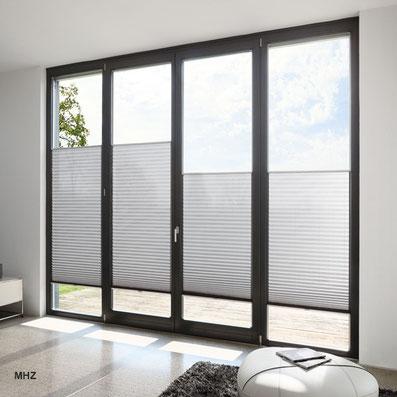 Plissee, Faltstores, Wabenplissee, Faltrollo, Sonnenschutz für Fenster,