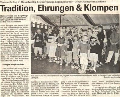 Jülicher Nachrichten vom 10.09.2001