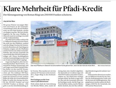 Bericht im Bote der Urschweiz vom 29. April 2021