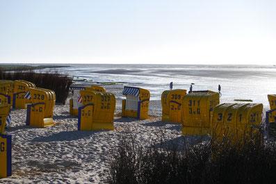 Strand vor der Ferinwohnung Duhnen
