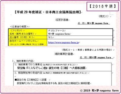 小規模事業者持続化補助金【申請】和×夢 nagomu farm