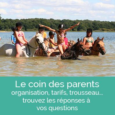 stages d'équitation, toutes les infos pour les parents