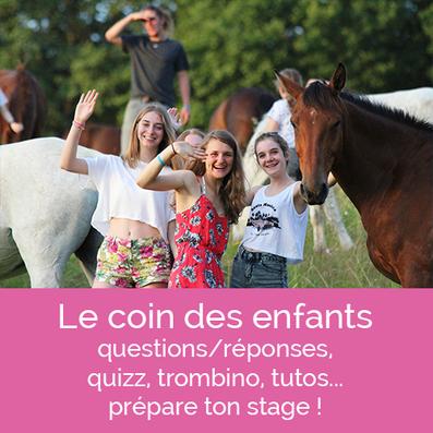 Stages poney et cheval : le coin des enfants