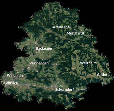 Karte Rems-Murr-Kreis