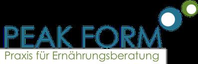 Logo Peak Form, Praxis für Ernährungsberatung Vera Hille
