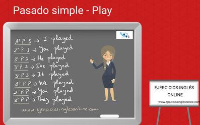 Pasado simple del verbo play en inglés