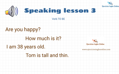 Speaking lesson 3 - Verb to be